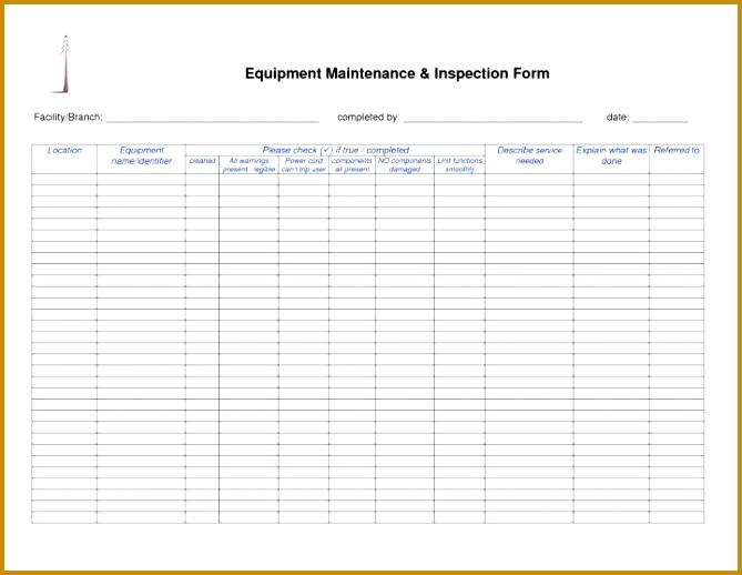 7 Facility Maintenance Checklist Template | FabTemplatez
