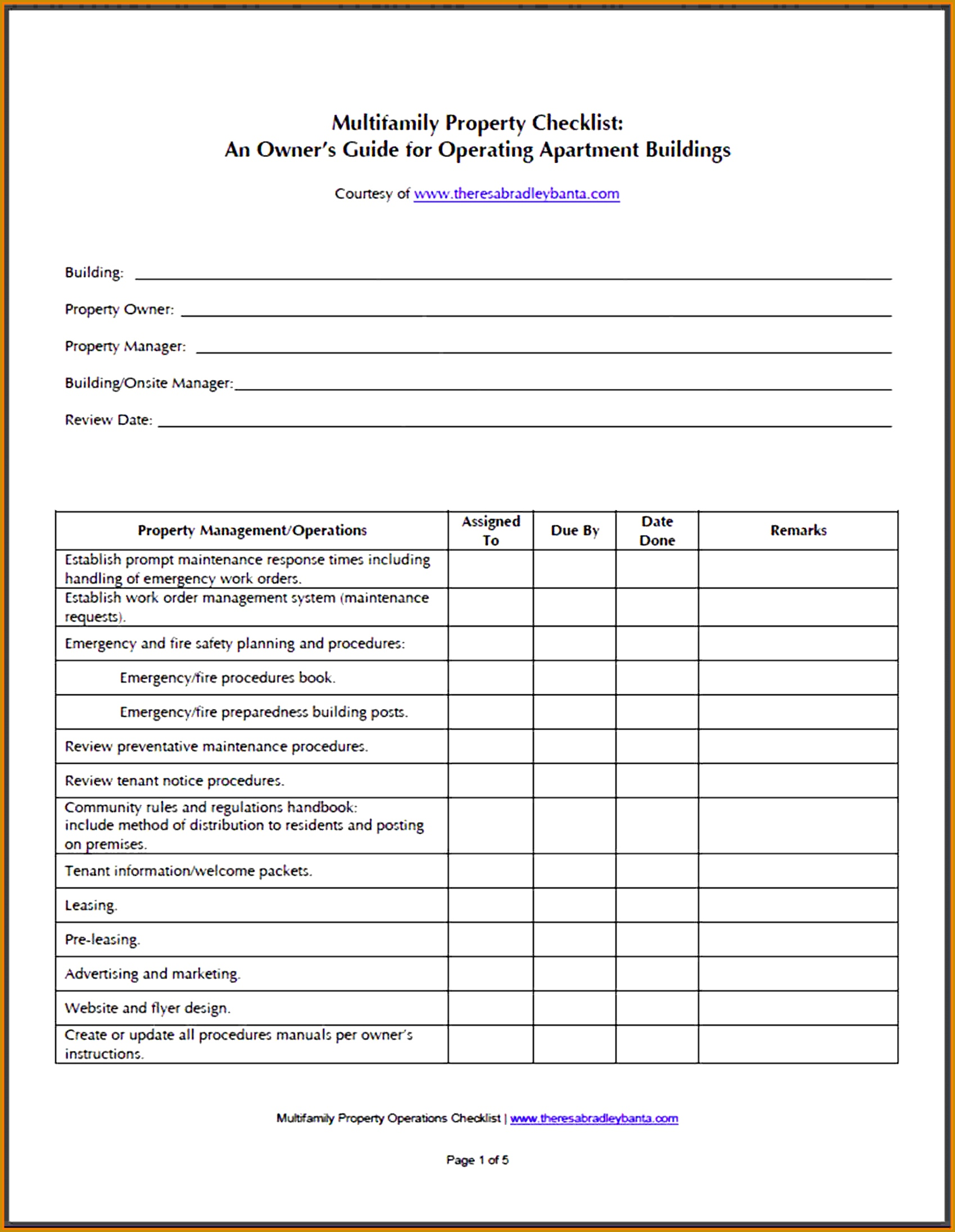 Apartment Building Maintenance Checklist Related Keywords 21921699
