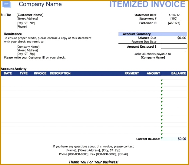 Itemized Invoice Template Example Fake Utility Bill Free Uk Dental Invoic Dollar Receipt Hospital Phone Fake 544624