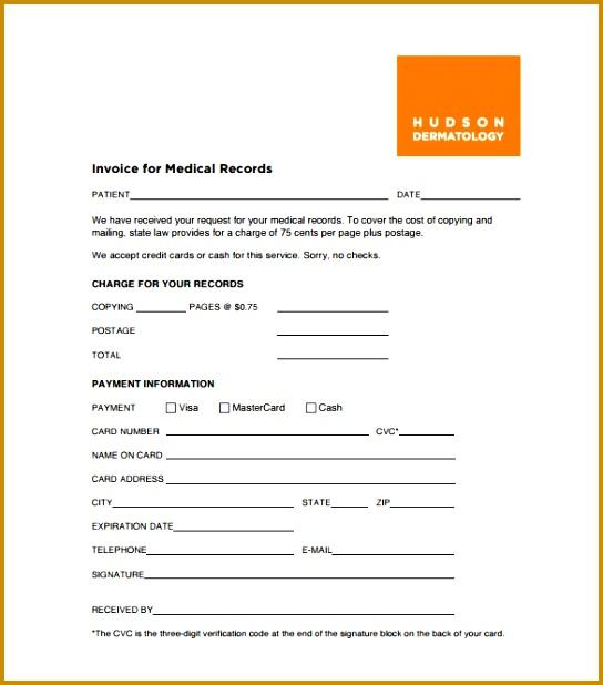 Medical Receipt Template Format Download 618544