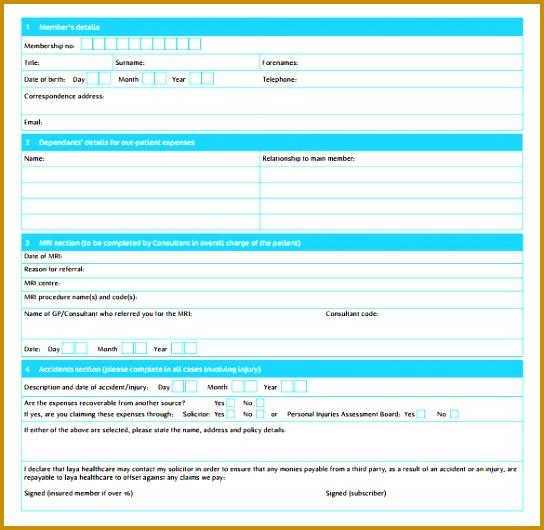 Blank Doctor Receipt Template Download PDF 530544
