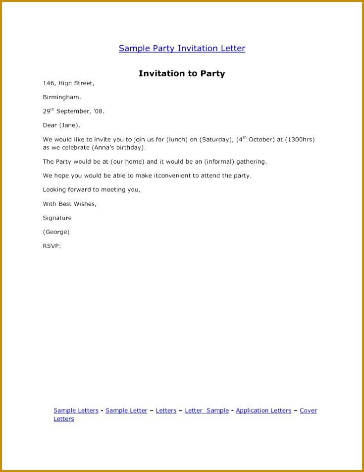 Farewell Lunch Invitation Email Sample 952735