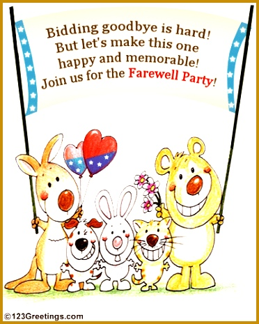 Farewell Party Invitation 465372