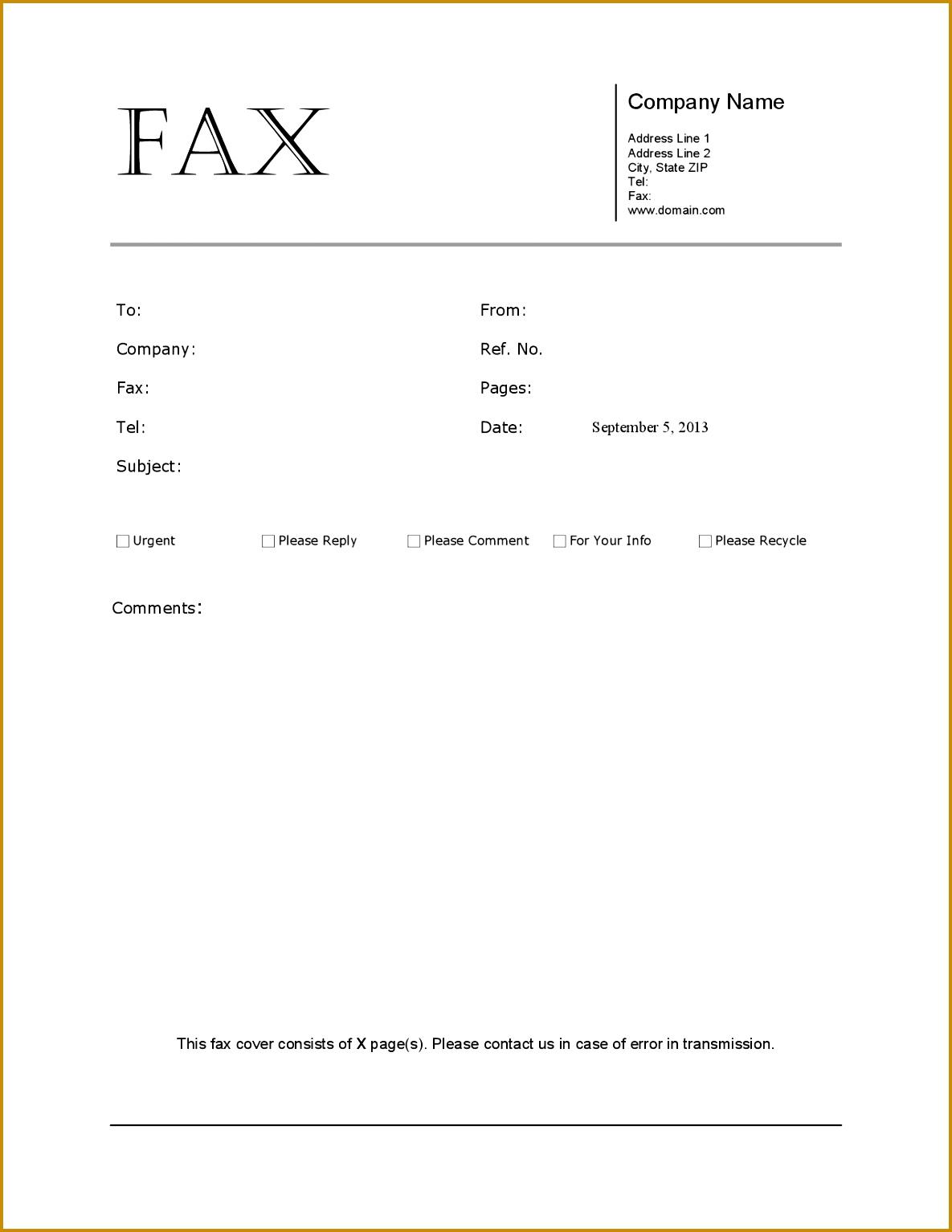 Tolle Word Fax Vorlage Ideen - Bilder für das Lebenslauf ...