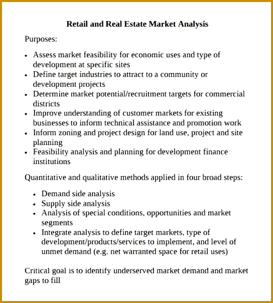 Sample Market Analysis Template 7 Free Documents in PDF Excel 604544