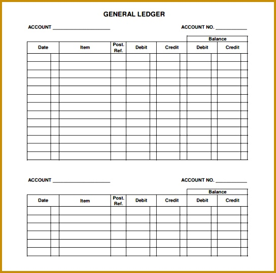 General Ledger Template 539544