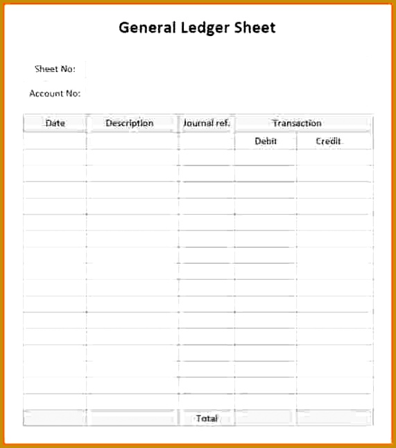 general ledger sheets ledger template ledger paper template excel free 647571