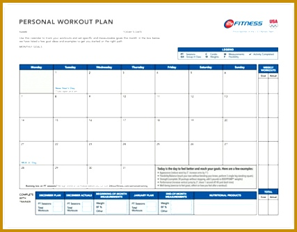 Monthly Workout Plan 334427