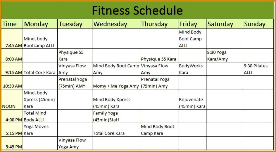 workout calendar template 523944