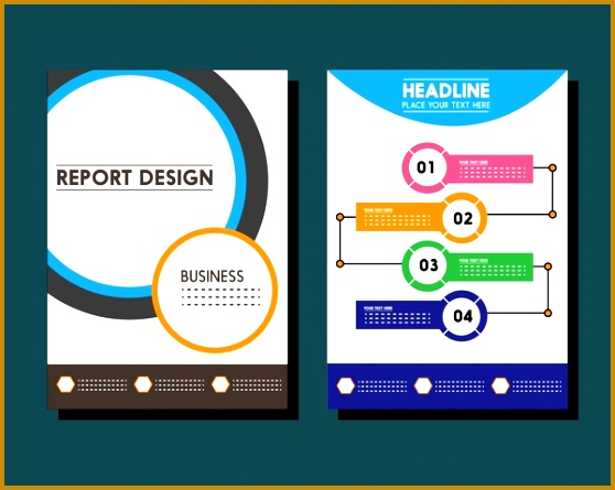 business report templates circles and infographic styles 445558