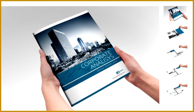 free annual report template creative market qDmctE 377651