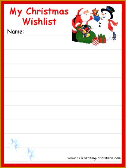 Printable Christmas List Template Printable Template 2017 pertaining to Christmas Gift List Template 2017 9095 558418