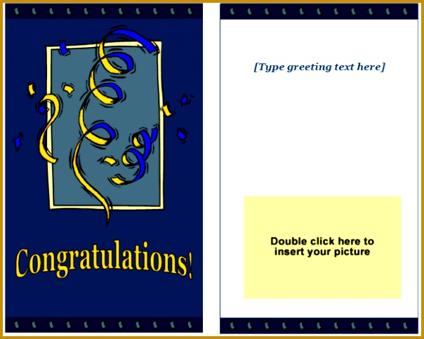 congratulations greeting card template 604483