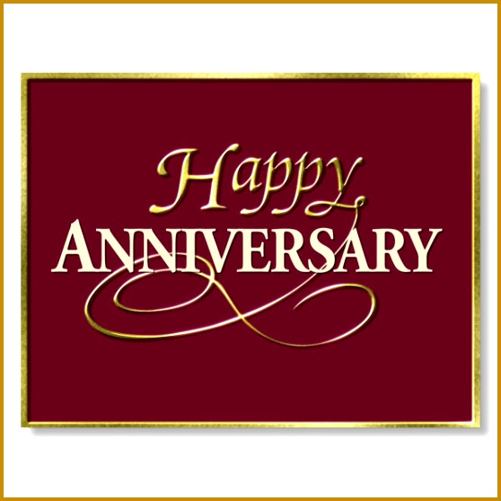 burgundy and gold happy anniversary cards 558558