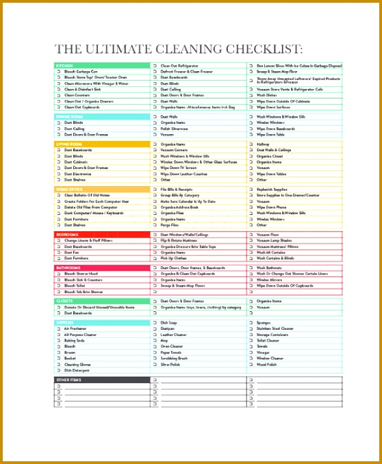 house cleaning checklist template for maid fabtemplatez. Black Bedroom Furniture Sets. Home Design Ideas
