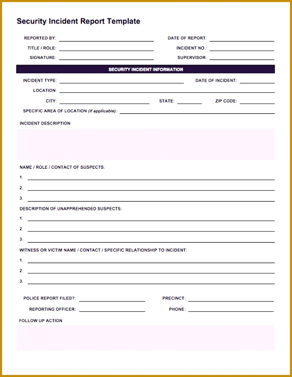 IC Security Incident Reporting Form 570735