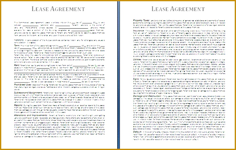 lease agreement template 488763