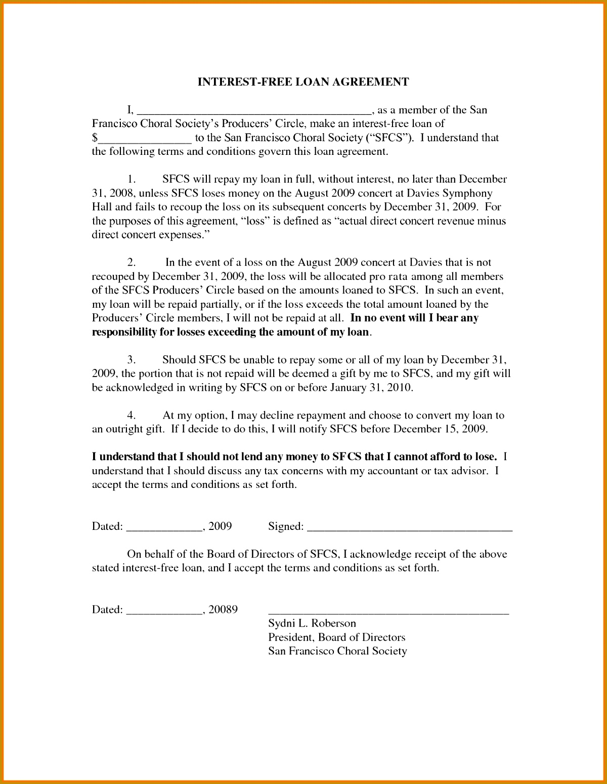 7 free loan agreement template 15491200