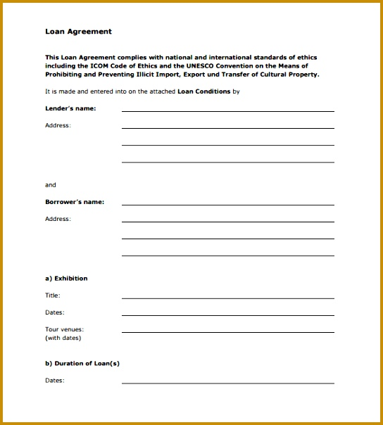 loan agreement template 544604
