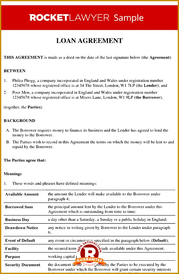 loan repayment agreement template free 883576