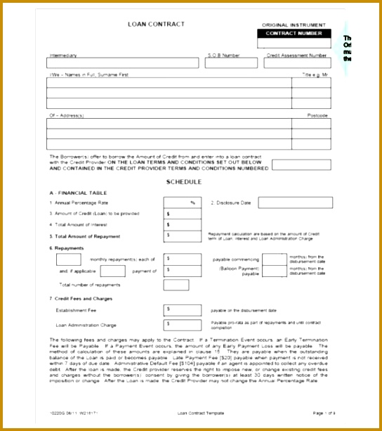 loan agreement template 613544