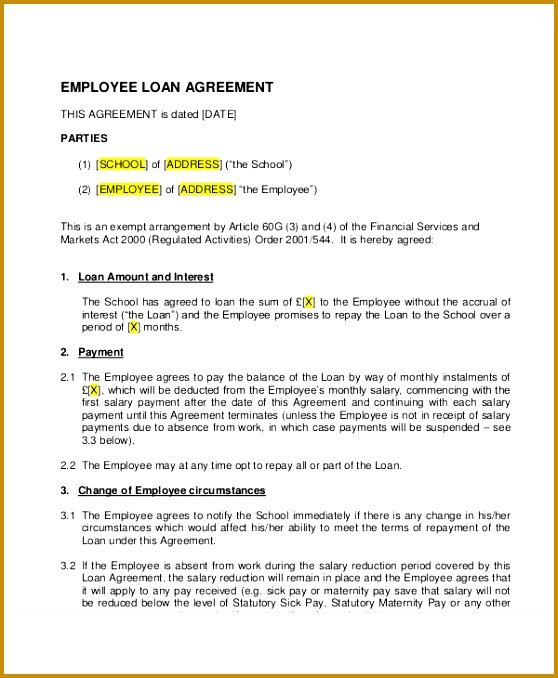 loan agreements templates 678558