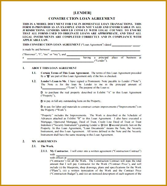 loan agreement template 604544