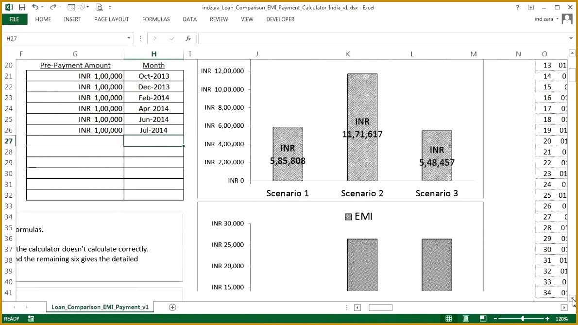 9 loan calculator excel template