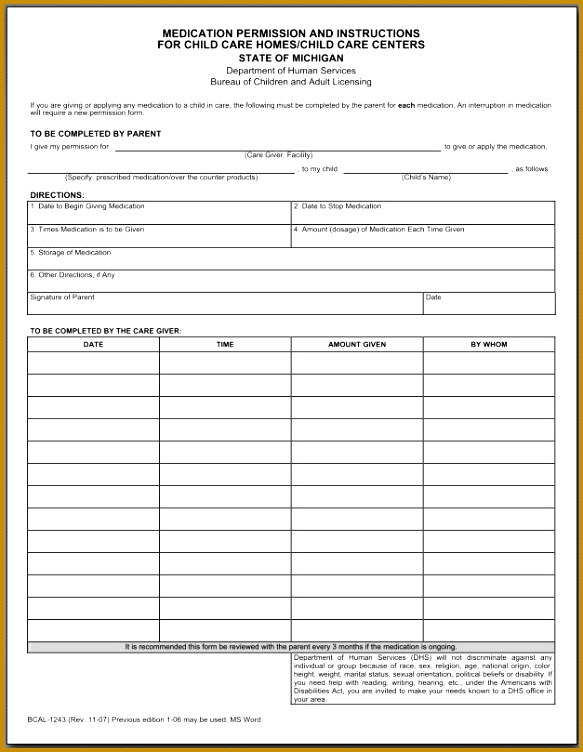 5 Medication Consent form Template