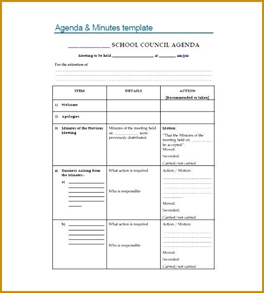 pta meeting minutes templates 604544
