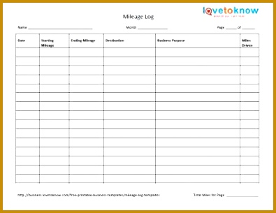 business logbook template mileage log form mileage logs at office depot officemax mileage printable 305395