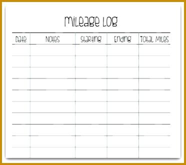 mileage logs 330372