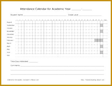 Attendance Form 281364