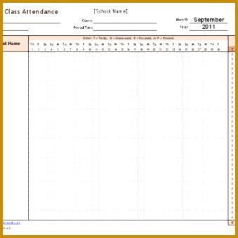 9 Monthly Attendance Sheet Templates 339339