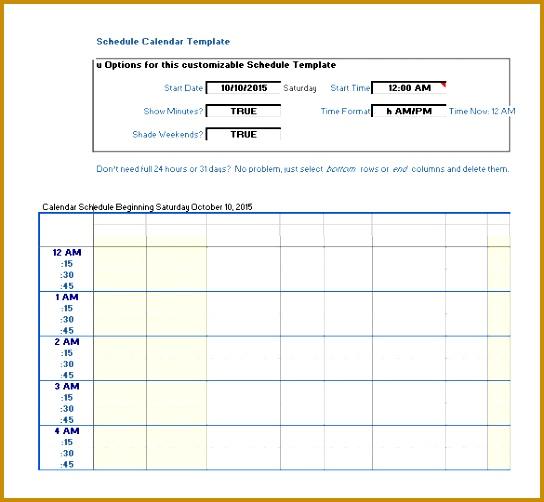 Monthly School Schedule Calendar Template 502544