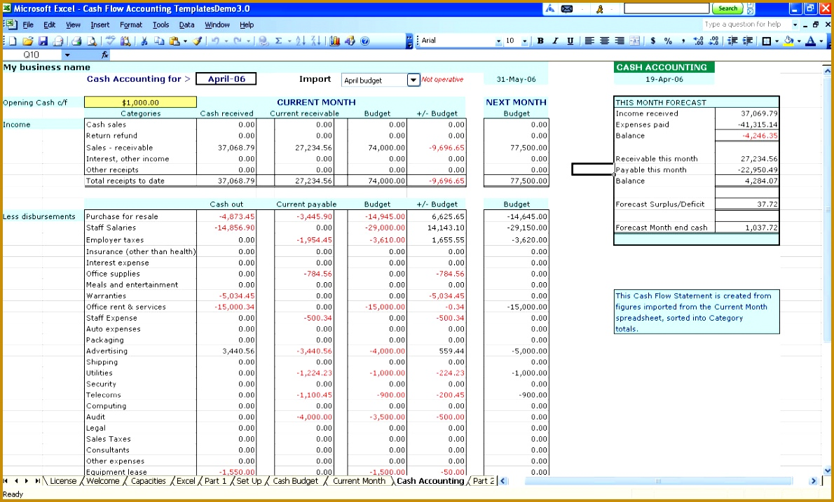 Excel Bookkeeping Template Images - Templates Example Free Download