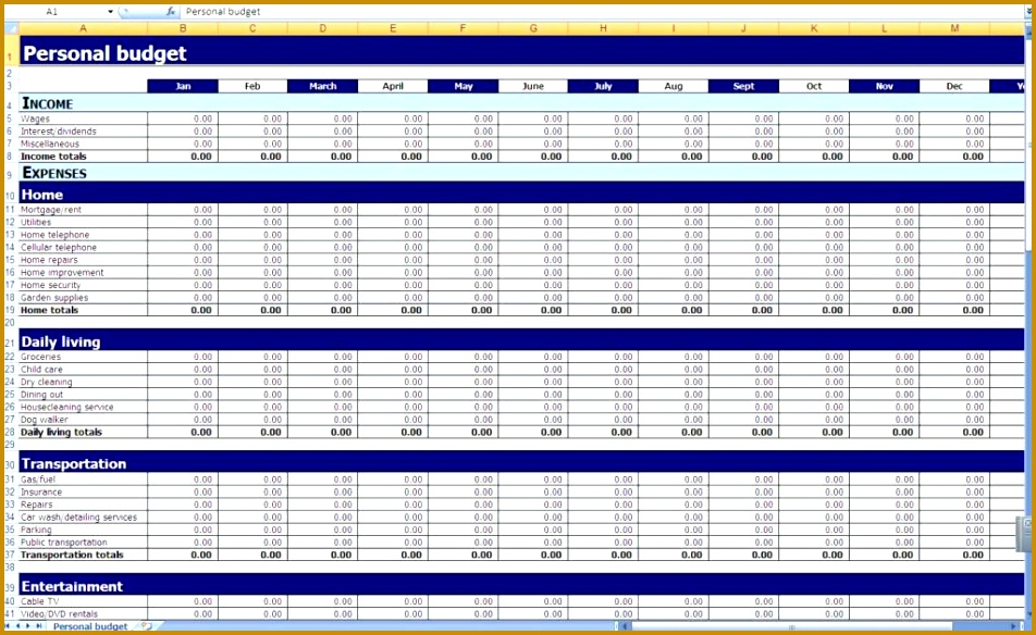 Household Bud Spreadsheet Template Free Free Template For Bud Spreadsheet Home Bud Spreadsheet Template Excel Bud 584952