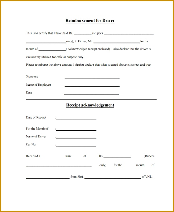 4 Monthly Expense Claim form Template