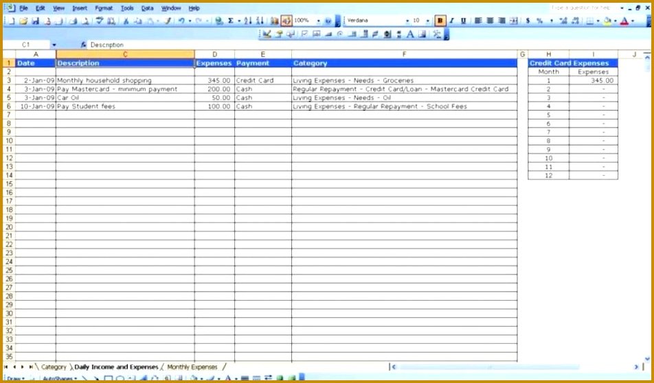 Simple Expense Report Template For Excel Free Microsoft Expense 952558
