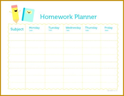 Homework Planner tweens Teens School Study 404522