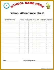 Preparing attendance sheet is quite easy but we make you more convenient regarding ready to Attendance Sheet TemplateSchool 213279