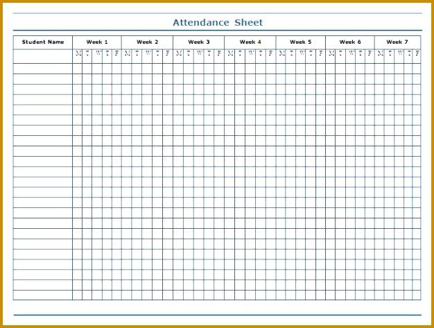 Printable Class Attendance Sheet Template 473626