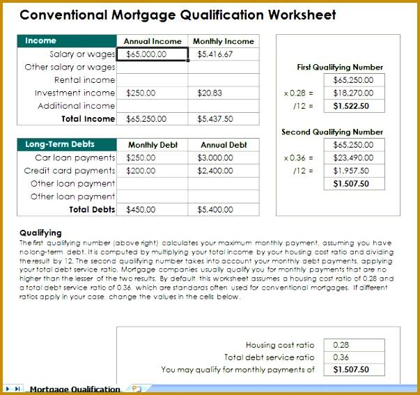 mortgage qualification calculator spreadsheet 567603
