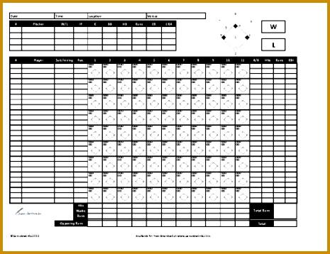 Baseball Scorecard 465358