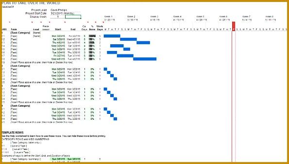 Excel Gantt Chart Template 2015 595337