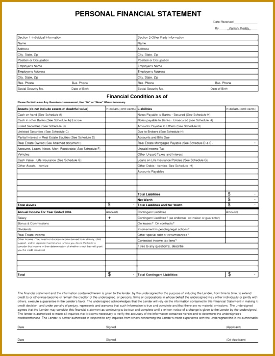 In e Report Template In e Statement Example Excel 725561