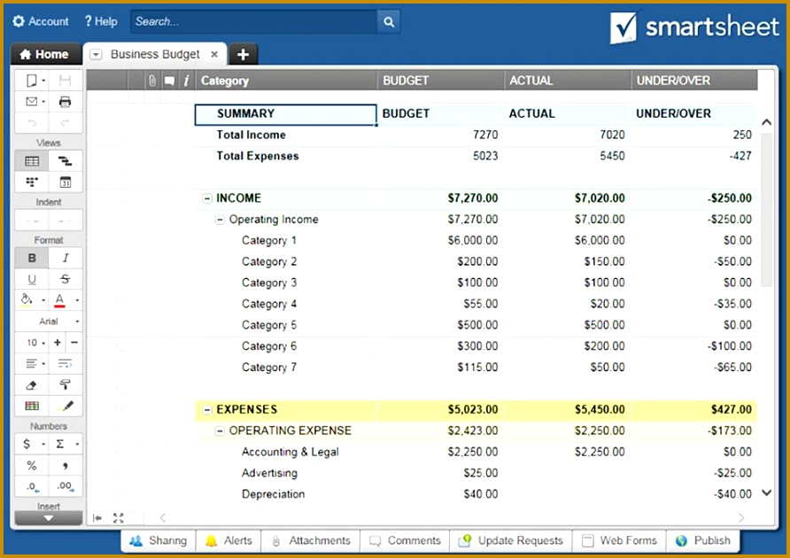 Categorize business expenses to track your spending against monthly and annual bud goals Keep your in e and expenses organized in one spot for an 630892