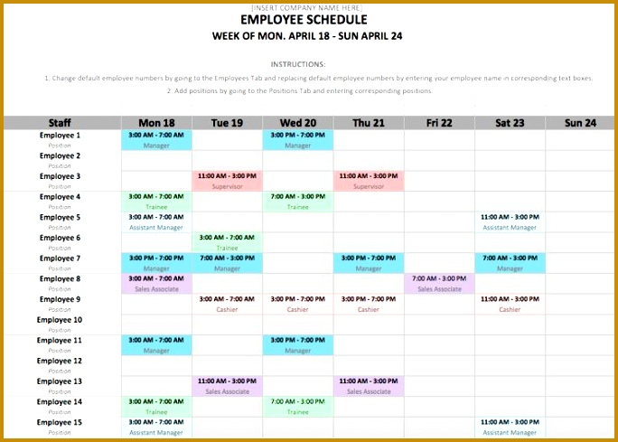 If you manage employees chances are you need an employee schedule template Download a 489684