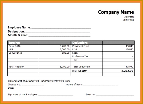 4 salary payment voucher template 358491