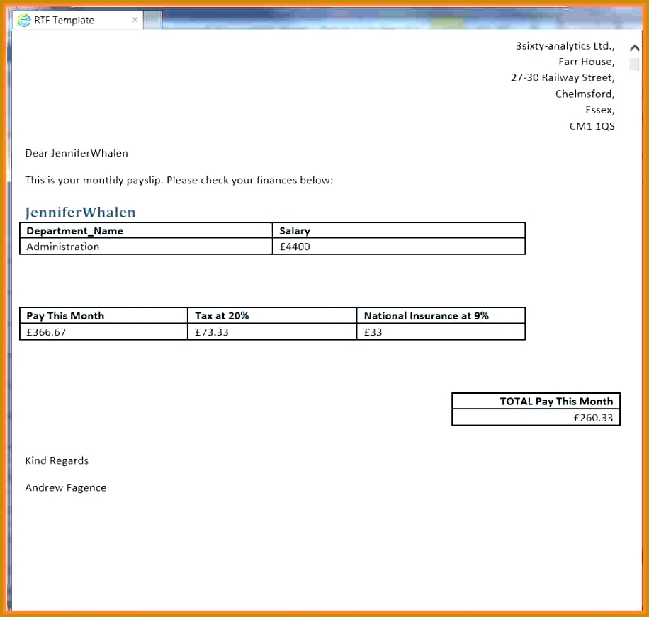 5 basic payslip template word 871916